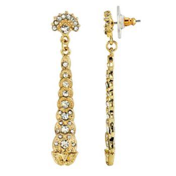 Downton Abbey Simulated Crystal Linear Drop Earrings