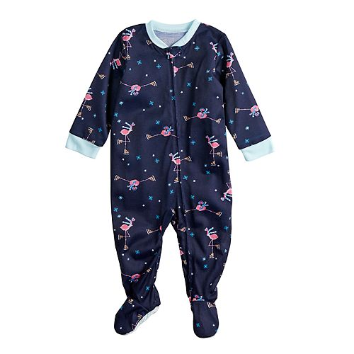 Baby/Infant Jammies For Your Families Skating Flamingos Blanket Sleeper One-Piece Footed Pajamas