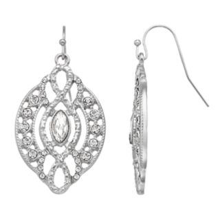 LC Lauren Conrad Simulated Crystal Filigree Nickel Free Drop Earrings