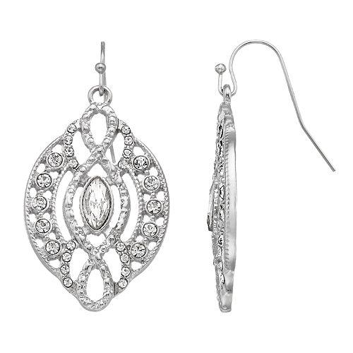 LC Lauren Conrad Simulated Crystal Filigree Nickel Free Drop Earrings