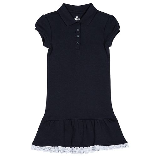 Girls 4-6x Chaps School Uniform Drop Waist Polo Dress