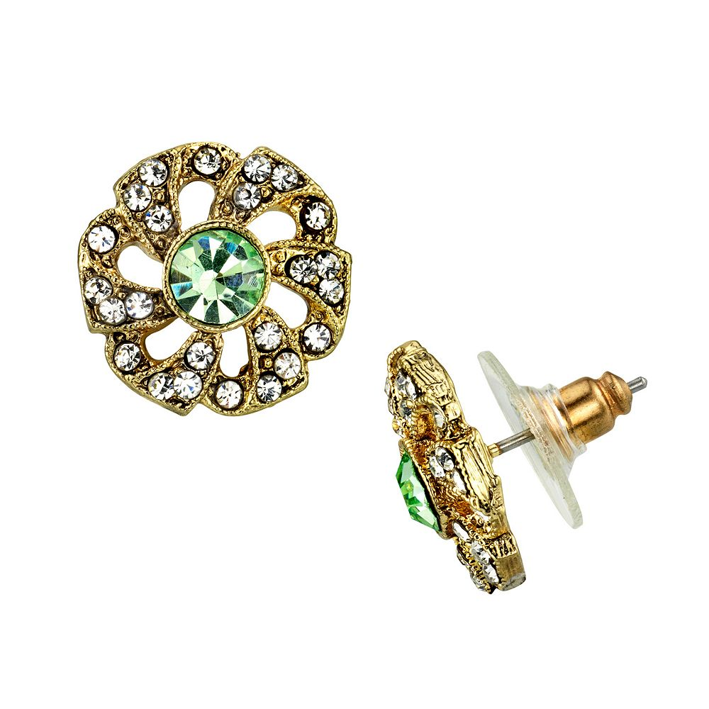 Downton Abbey Flower Stud Earrings