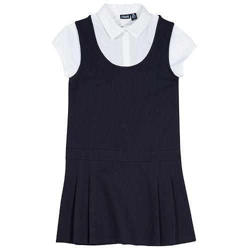 Girls 4-16 Chaps School Uniform Pleated Jumper with Shirt