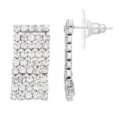 LC Lauren Conrad Simulated Crystal Nickel Free Chain Drop Earrings