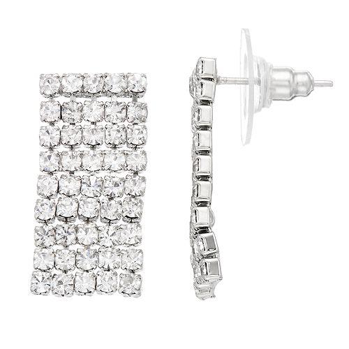 LC Lauren Conrad Simulated Crystal Nickel Free Chain Drop Earrings