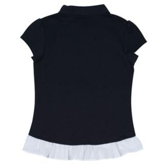 Girls 4-16 Chaps School Uniform Ruffled Polo
