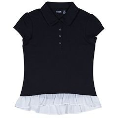 Girls 4-16 Chaps School Uniform Ruffled Polo