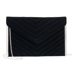 Lenore by La Regale Chevron Quilted Envelope Clutch