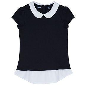 Girls 4-16 Chaps School Uniform Peter Pan Collar Top