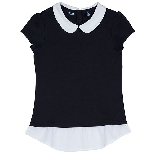 Girls 4-16 Chaps School Uniform Peter Pan Collar Top