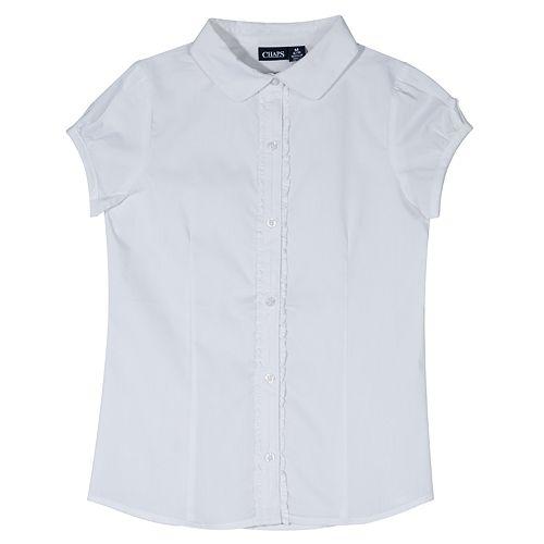 Girls 4-16 Chaps Ruffled Placket School Uniform Top