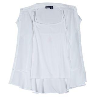 Girls 4-16 Chaps School Uniform Cami & Blouse Set