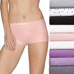 Women's Hanes Ultimate Comfort Stretch 9-Pack Boyshort Panties 49KSP9