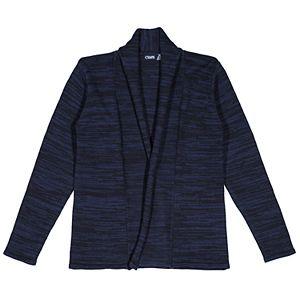 Girls 7-16 Chaps School Uniform Marled Open Front Cardigan Sweater