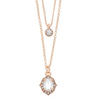 LC Lauren Conrad Simulated Crystal Layered Necklace