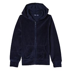 Girls 7-16 Chaps School Uniform Velour Hoodie