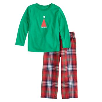 Toddler Boy Jammies For Your Families Happy Holidays Family Pajamas Top & Bottoms Set