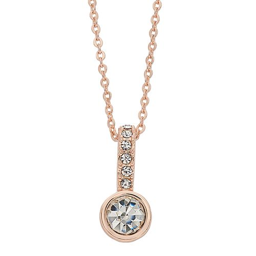 LC Lauren Conrad Simulated Crystal Circle Pendant Necklace