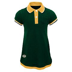 Toddler Girl Green Bay Packers Mock-Layered Polo Dress