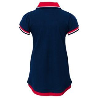 Toddler Girl New EnglandPatriots Mock-Layered Polo Dress