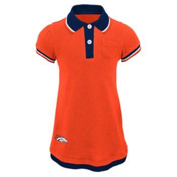 Toddler Girl Denver Broncos Mock-Layered Polo Dress