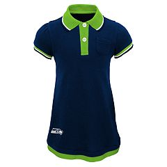 Baby Girl Seattle Seahawks Mock-Layered Polo Dress