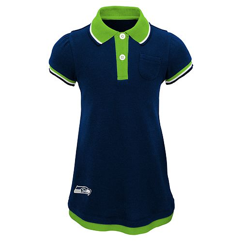 low price 4531e 909fe Toddler Girl Seattle Seahawks Mock-Layered Polo Dress