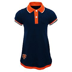 Baby Girl Chicago Bears Mock-Layered Polo Dress