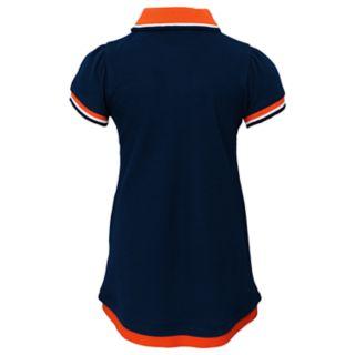 Toddler Girl Chicago Bears Mock-Layered Polo Dress