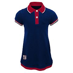 Toddler Girl New York Giants Mock-Layered Polo Dress