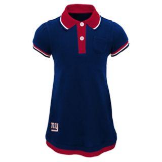 Toddler Girl New York Giants Mock-Layered Polo Dress