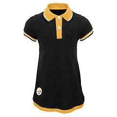 Toddler Girl Pittsburgh Steelers Mock-Layered Polo Dress