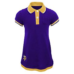 Baby Girl Minnesota Vikings Mock-Layered Polo Dress