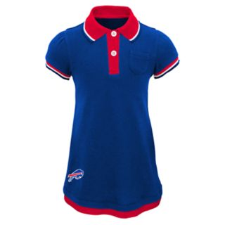 Toddler Girl Buffalo Bills Mock-Layered Polo Dress