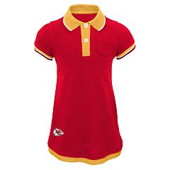 Toddler Girl Kansas City Chiefs Mock-Layered Polo Dress