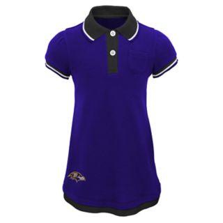 Toddler Girl Baltimore Ravens Mock-Layered Polo Dress