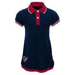 Baby Girl Houston Texans Mock-Layered Polo Dress