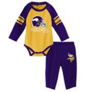 Baby Minnesota Vikings Future Starter Bodysuit & Pants Set