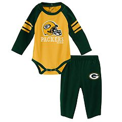Baby Green Bay Packers Future Starter Bodysuit & Pants Set