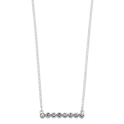LC Lauren Conrad Simulated Crystal Bar Necklace