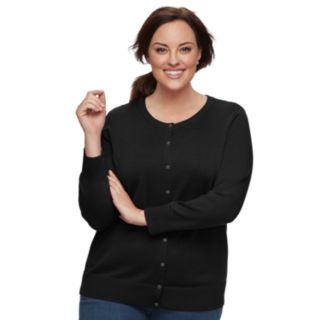 Plus Size Croft & Barrow® Essential Cardigan Sweater