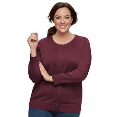Plus Size Croft & Barrow® Essential Cardigan Sweater