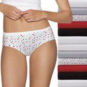 Women's Hanes Cotton Comfort Ultra Soft 12-Pack Hipster Panties  41KP12