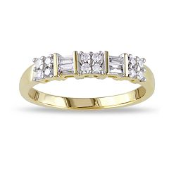 Lovemark 10k Gold 1/4 Carat T.W. Diamond Cluster Ring