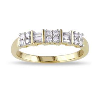Lovemark 10k Gold 1/4 Carat T.W. Diamond Cluster Ring