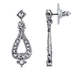 Downtown Abbey Simulated Crystal Drop Earrings