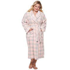Plus Size SONOMA Goods for Life™ Long Plush Wrap Robe
