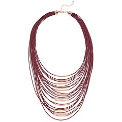 Multi Row Sliding Tube Necklace