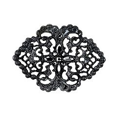 Downton Abbey Filigree Simulated Crystal Pin