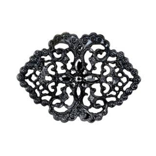 Downton Abbey Filigree Simulated Crystal Pin